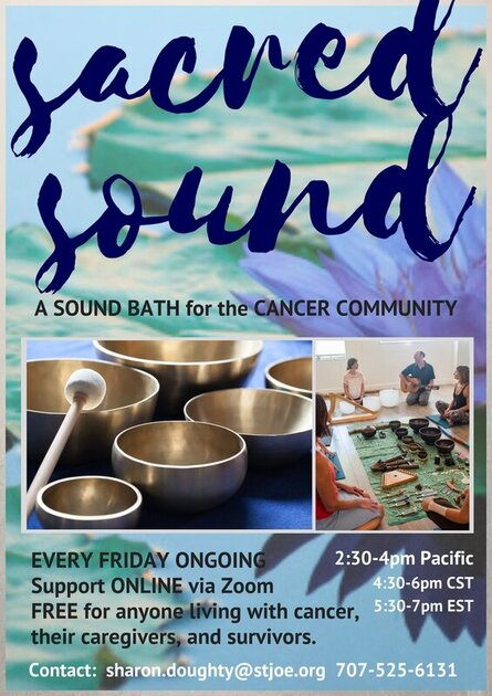 Sound Healing in Petaluma for the cancer support community, free